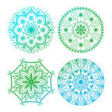 Mehendy mandala flower vector illustration Royalty Free Stock Photography