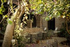 Meherabad ashram som är etablerad vid Meher Baba nära den Arangaon byn, Indien Royaltyfria Foton