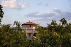Meherabad ashram som är etablerad vid Meher Baba nära den Arangaon byn, Indien Royaltyfri Fotografi