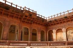 Meherangarh堡垒在乔德普尔城 免版税图库摄影