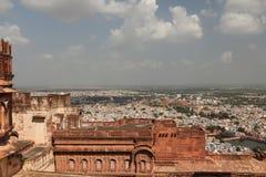Meherangarh堡垒在乔德普尔城 库存图片
