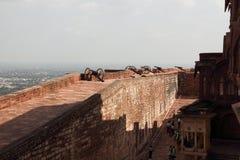Meherangarh堡垒在乔德普尔城 免版税库存图片