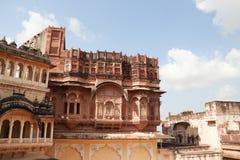 Meherangarh堡垒在乔德普尔城 库存照片