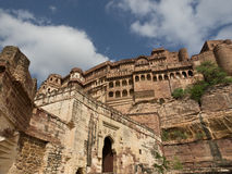 Meherangarh Fort. Former home of the Maharajah of Jodhpur. Former palaces inside the fortified walls of Meherangarh Fort , Jodhpur, Rajasthan, India Royalty Free Stock Images