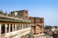 Meherangarh fort i Jodhpur Royaltyfria Bilder