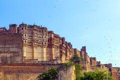 Meherangarh fort in jodhpur - india Royalty Free Stock Images