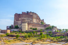 Meherangarh fort - jodhpur - india. Famous meherangarh fort in jodhpur - india royalty free stock photography