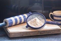 Mehl für Backen Stockfoto