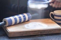 Mehl für Backen Stockbild