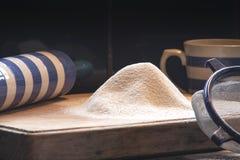 Mehl für Backen Stockbilder