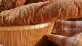 Mehl mit Brot stock video footage