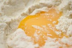 Mehl und Ei Stockfotos