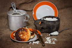 Mehl und Hüttenkäse lizenzfreies stockfoto