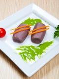 Mehlklöße mit Rotwein Lizenzfreies Stockbild