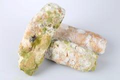 Mehltau auf Brot Verdorbene Nahrungsmittel, die zum Verbrauch schädlich sind lizenzfreie stockbilder