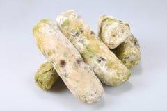 Mehltau auf Brot Verdorbene Nahrungsmittel, die zum Verbrauch schädlich sind stockfotos