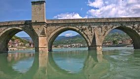 Mehmed帕沙Sokolovic桥梁,维谢格拉德,欧洲 图库摄影