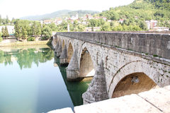 The Mehmed Paša Sokolović Bridge of Višegrad Stock Photography