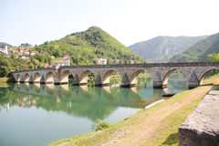 The Mehmed Paša Sokolović Bridge of Višegrad Royalty Free Stock Images