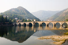 The Mehmed Pasha Sokollu bridge in Visegrad, Bosnia and Herzegov Stock Photography