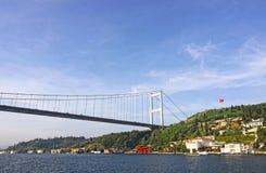 Мост Mehmet султана Fatih над проливом Bosphorus в Стамбуле Стоковые Фото