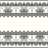 Mehndi,在印地安样式的装饰模板 皇族释放例证