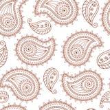 无刺指甲花纹身花刺mehndi样式无缝的背景 免版税库存图片