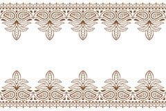 Mehndi bakgrund Indisk prydnad för henna för broderidesignwuth Bröllopmackdrop royaltyfri illustrationer