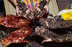 Mehndi design. Beautiful Mehndi Designs on hands royalty free stock photos