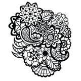 Mehndi design. Floral pattern. Royalty Free Stock Images