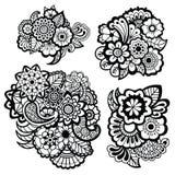 Mehndi design. Floral pattern. Royalty Free Stock Photo