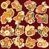 Mehndi design. Patterns. Stock Photos
