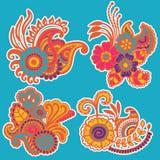 Mehndi design. Patterns. Stock Photo