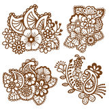 Mehndi design. Patterns. Royalty Free Stock Photography