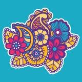 Mehndi design. Patterns. Royalty Free Stock Photo