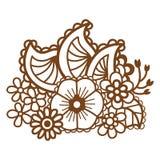 Mehndi design. Patterns. Royalty Free Stock Photos