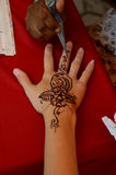Mehndi drawing Royalty Free Stock Image