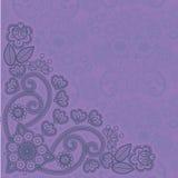 mehndi för 3 blommor stock illustrationer