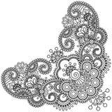 Mehndi flower. Hand-Drawn henna Mehndi Abstract Flowers. Vector illustration Stock Photos