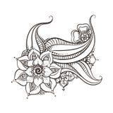Mehndi flowers design Stock Image