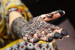 Mehndi-Hände Stockfotos