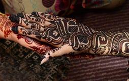 Mehndi-Hände Lizenzfreie Stockfotografie