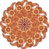 Mehndi henna tattoo style vector mandala Royalty Free Stock Images