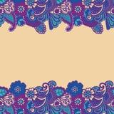 Mehndi horizontal background. Royalty Free Stock Photo