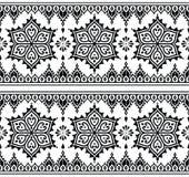 Mehndi, Indiańskiego henna tatuażu bezszwowy wzór, projektów elementy Fotografia Royalty Free