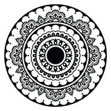 Mehndi, Indian Henna floral tattoo round pattern Stock Photos
