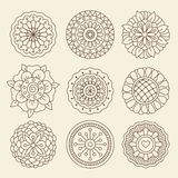 Mehndi indian henna tattoo flowers Royalty Free Stock Image