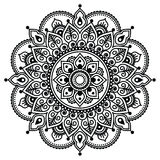 Mehndi, Indian Henna tattoo pattern or background Royalty Free Stock Images