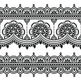 Mehndi, Indian Henna tattoo pattern or background Stock Photos
