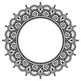 Mehndi, Indian Henna tattoo round pattern Royalty Free Stock Image